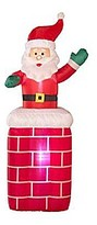 Panache HOME Inflatable Santa on Chimney.