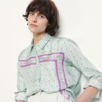 Sandro Printed silk shirt