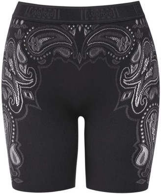 Wolford Om Paisley Lace Biker Shorts