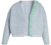 Vika Gazinskaya Plaited-detail wool open cardigan