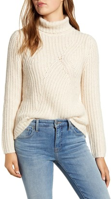 Lucky Brand Traveling Ribbed Turtleneck Sweater