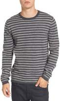 French Connection Men's Double Stripe Wool Sweater