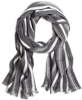Brooks Brothers Cotton and Silk Tri-Color Scarf