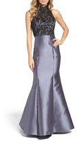 Xscape Evenings Women's Lace & Satin Mermaid Dress