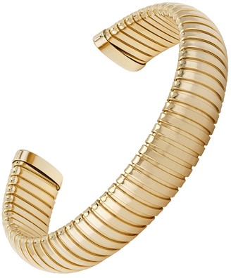 Janis Savitt Open Medium Yellow Gold Cobra Cuff Bracelet
