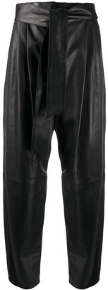 In The Mood For Love belted waist Xavier trousers
