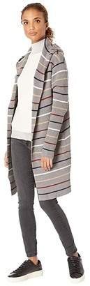 Carve Designs Durango Sweater (Grey Heather Stripe) Women's Sweater