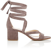 Barneys New York Women's Virginia Ankle-Wrap Sandals-GREY