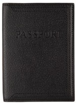 Lodis Stephanie Leather Passport Cover - Black