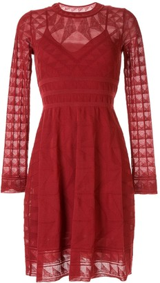 M Missoni Long-Sleeved Knitted Dress