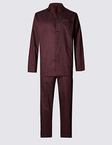 M&s Collection 2in Longer Pure Cotton Printed Pyjama Set