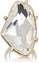 Kenneth Jay Lane WOMEN'S WHITE CRYSTAL COCKTAIL RING