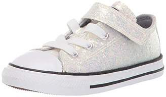 Converse Girls' Chuck Taylor All Star Glitter Velcro Low Top Sneaker