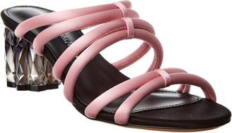 Salvatore Ferragamo Amalia Leather & Satin Sandal