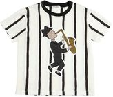 Dolce & Gabbana Stripes Print Cotton Jersey T-Shirt
