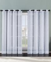 Victoria Classics Ritz Metallic Printed Faux Linen 54'' x 96'' Curtain Panel