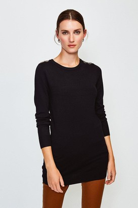 Karen Millen Trim Detail Knitted Tunic