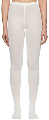 Wolford Off-White Cotton Velvet Tights