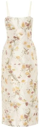 Brock Collection Exclusive to Mytheresa a Rachele floral silk midi dress