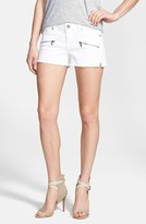 Paige Women's 'Indio' Zip Detail Cutoff Denim Shorts