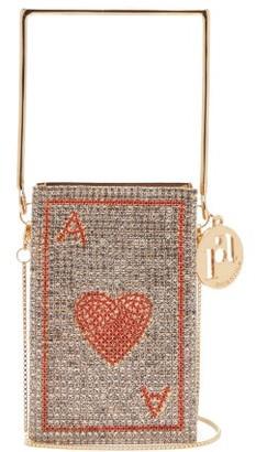 Rosantica Poker Caged Crystal-embellished Bag - Red Multi