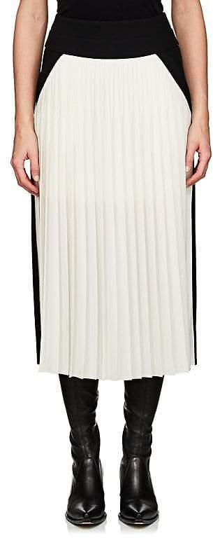 Givenchy Women's Colorblocked Silk-Blend Midi-Skirt