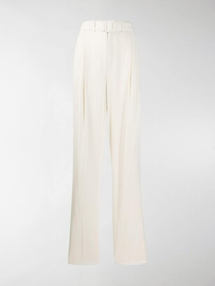 Lemaire High Waisted Belted Trousers