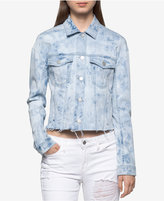 Calvin Klein Jeans Stone-Washed Denim Jacket