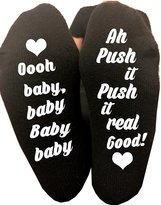Mac N Tees Oh Baby Push It Labor Delivery Maternity Hospital Socks Pregnancy Funny Gag Gift Baby Shower Gift