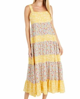 BB Dakota Women's Company Mixed Print Bubble Crepe midi Dress