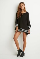 Forever 21 Embroidered Bell-Sleeve Tunic
