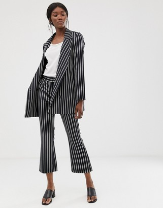 Just Female Laurent stripe co-ord trousers-Navy