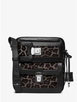 Scott Cargo Leopard Calf Hair Flight Bag