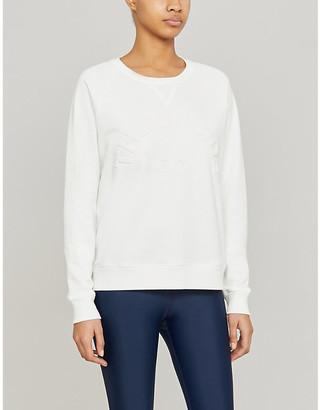 The Upside Bondi Crew logo-embossed cotton-blend sweatshirt