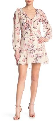 Paige Neha Long Sleeve Floral Silk Dress