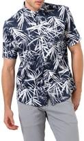 7 Diamonds Men's Revelation Sunday Print Woven Shirt