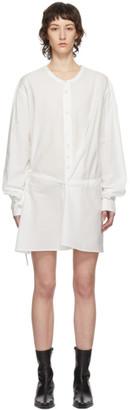 Ann Demeulemeester SSENSE Exclusive White Belted Shirt Dress