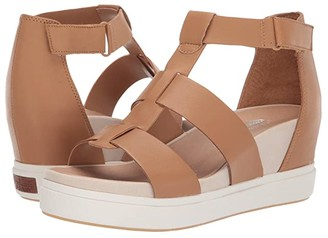 Dr. Scholl's Saffron (Nude Leather) Women's Wedge Shoes
