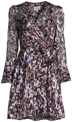Milly Painted Wrap Dress
