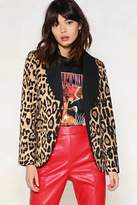 Nasty Gal nastygal Read the Fine Print Leopard Blazer