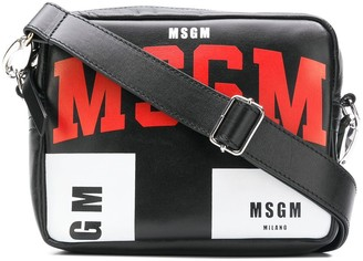 MSGM logo cross body bag