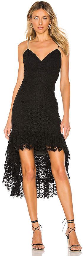 Bardot Scallop Lace Dress