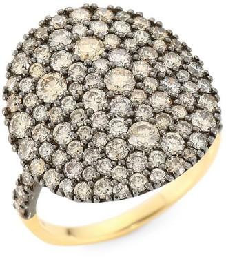 Etho Maria Vibrant 18K Yellow Gold & Brown Diamond Cocktail Ring