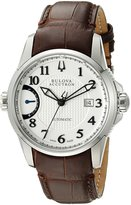 Bulova Men's 63B160 Calibrator Analog Display Swiss Automatic Brown Watch