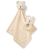 Edgehill Collection Bear Buddy Blanket And Plush Bear Rattle Set