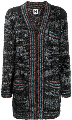 M Missoni open front tinsel cardigan