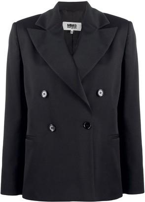 MM6 MAISON MARGIELA Double-Breasted Blazer Jacket
