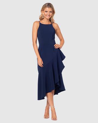 Pilgrim Women's Navy Midi Dresses - Dallon Midi Dress - Size One Size, 14 at The Iconic