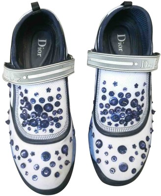 Christian Dior Fusion White Glitter Trainers