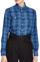 Polo Ralph Lauren Relaxed Plaid Twill Cotton Button-Down Workshirt